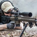 CMMG Mk3 6.5 Creedmoor rifle aiming