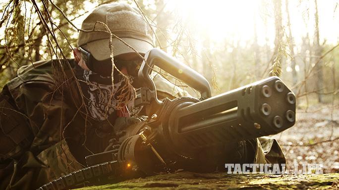 Empty Shell XM556 microgun test