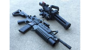 Empty Shell XM556 microgun rifle comparison
