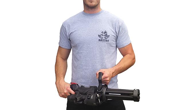 Empty Shell XM556 microgun rifle profile shot