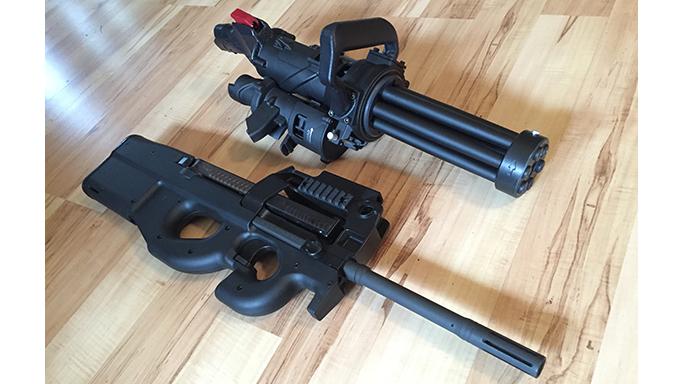 Empty Shell XM556 microgun rifle side-by-side comparison