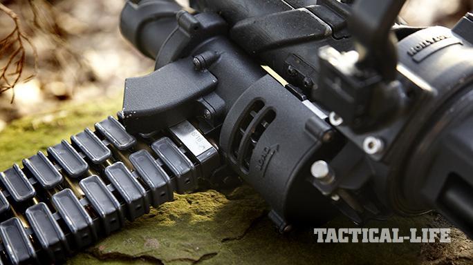 Empty Shell XM556 microgun feed