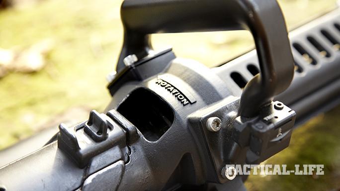 Empty Shell XM556 microgun rotation
