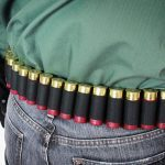 Mossberg Shotgun bandolier and belt closeup