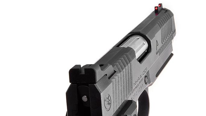Nighthawk Agent 1 pistol rear sight
