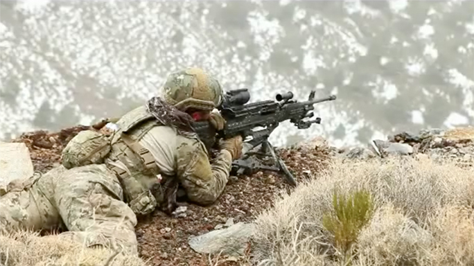 SOCOM Lightweight Medium Machine Guns aiming