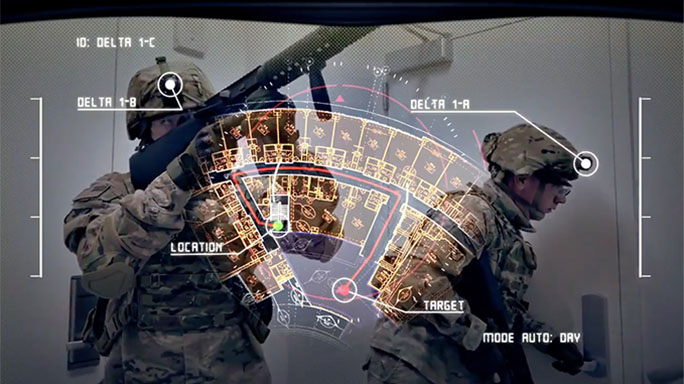 U.S. Army tactical augmented reality map