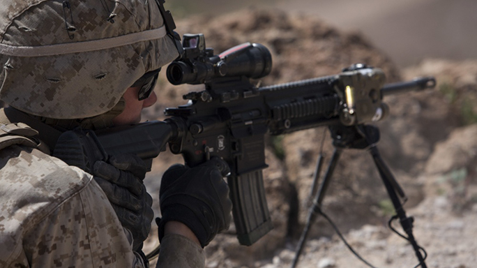 U.S. Marine M27 rifle