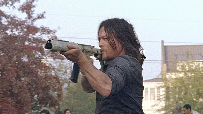 Daryl rifle the walking dead season 7