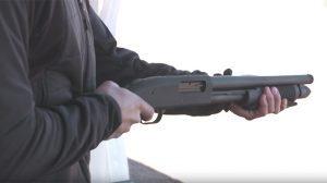 Mossberg 590 Shockwave shotgun shooting