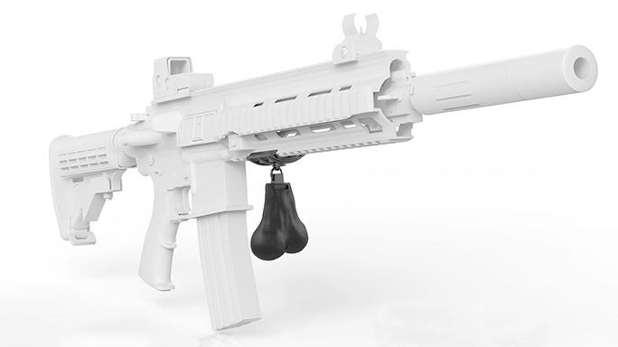 Gunsticles Tactical Testicles gun hanging