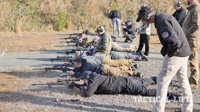 Beretta APX pistol firing line