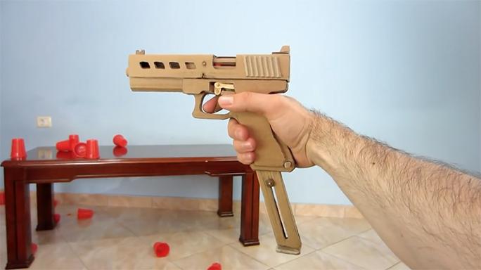 video man creates functional cardboard glock 19