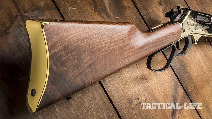 Henry 45-70 lever action rifle stock
