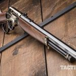 Henry 45-70 lever action rifle angle