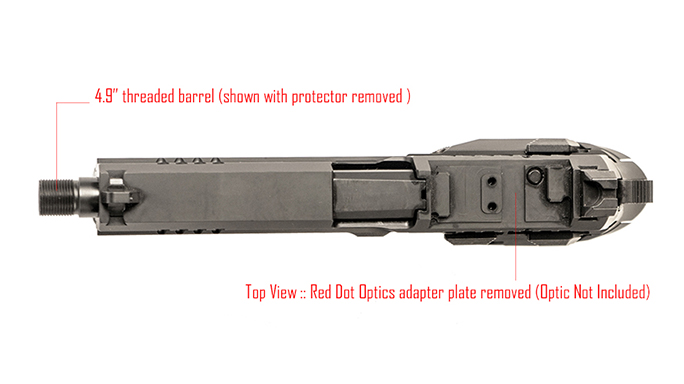 Arex Rex Zero 1T pistol barrel