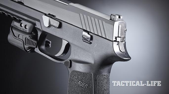 Sig Sauer P320 pistol magazine release