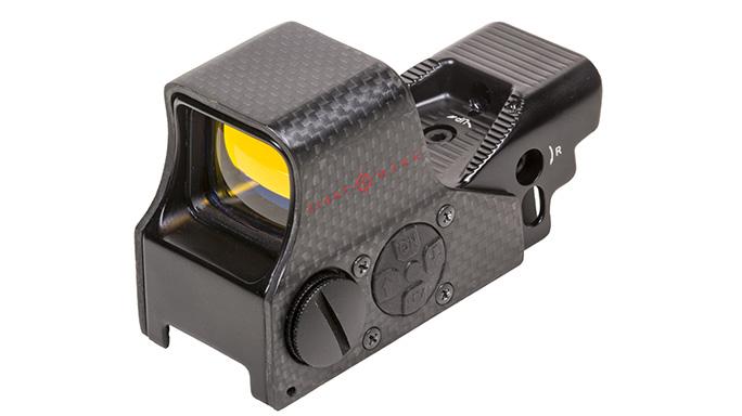 sightmark Ultra Shot M-Spec FMS Carbon Fiber Reflex Sight left angle