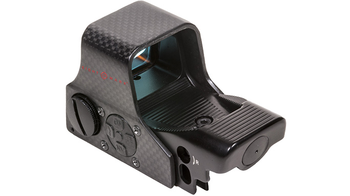 sightmark Ultra Shot M-Spec FMS Carbon Fiber Reflex Sight rear left angle