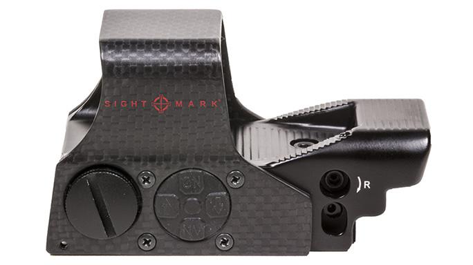 sightmark Ultra Shot M-Spec FMS Carbon Fiber Reflex Sight left profile