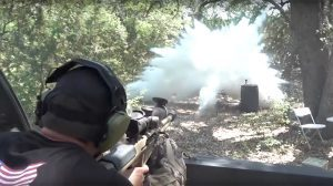 Demolition Ranch Shoots Dry Ice .50 Cal rifle