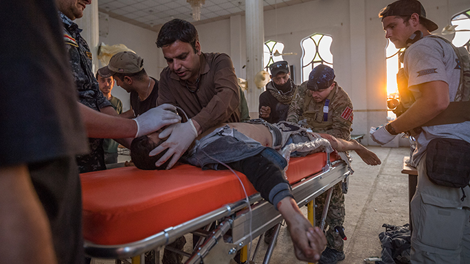 Mosul Medic Nik Frey patient