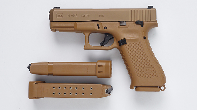 Glock 19 Pistol Army XM17 modular handgun system magazines