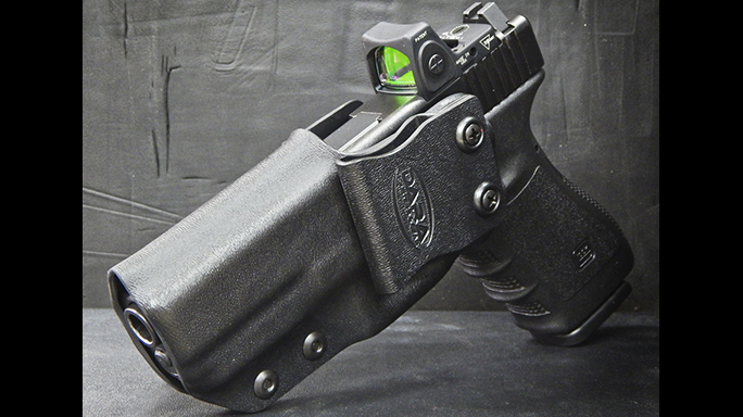 Custom Action Sports holster red dot sights