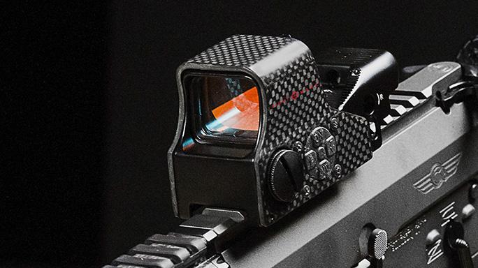 sightmark Ultra Shot M-Spec FMS Carbon Fiber Reflex Sight closeup
