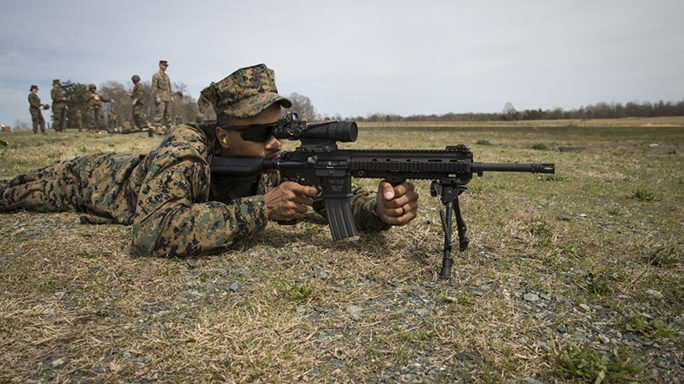 marines uber squad m27 rifle test fire