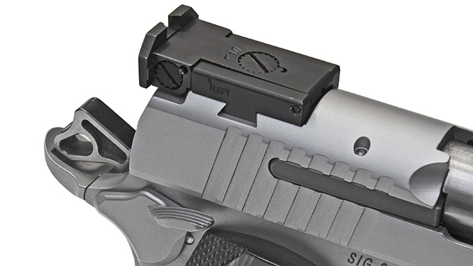 Sig 1911 Match Elite Stainless pistol rear sight