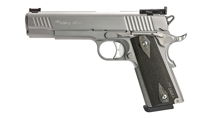 Sig 1911 Match Elite Stainless pistol left profile