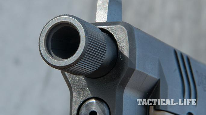 Springfield XDM 4.5 inch Threaded Barrel pistol muzzle