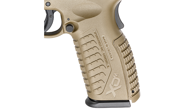 Springfield XDM 4.5 inch Threaded Barrel pistol grip