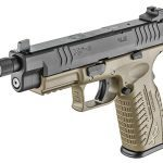 Springfield XDM 4.5 inch Threaded Barrel pistol left angle
