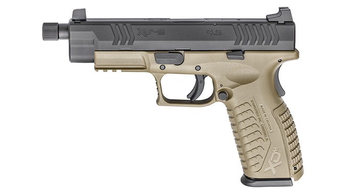 Springfield XDM 4.5 inch Threaded Barrel pistol left profile