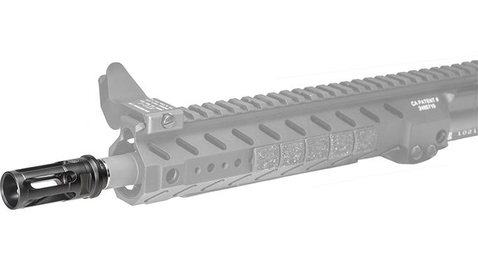 SureFire WARCOMP 556 flash hider on rifle