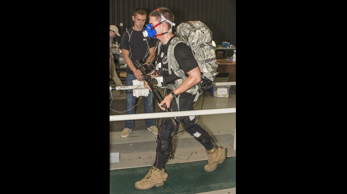 Army Exoskeleton Suit test