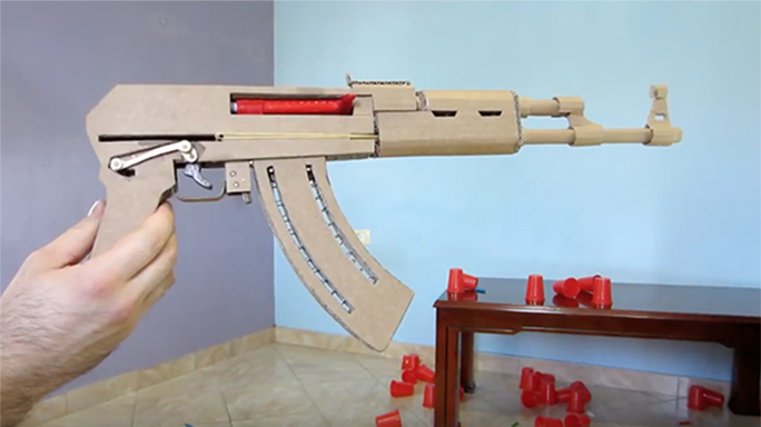 how to make a cardboard sniper rifle template
