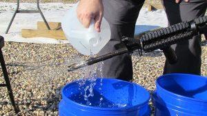 Gun cleaning rifle cooling
