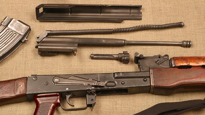 Gun cleaning RPK rifle