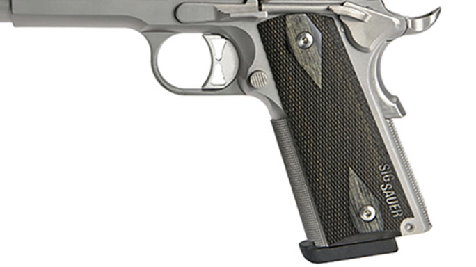 Sig 1911 Match Elite Stainless pistol grip