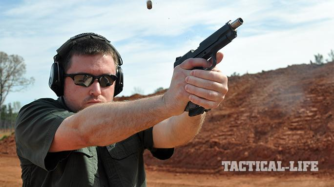 The Ed Brown Special Forces pistol ejecting