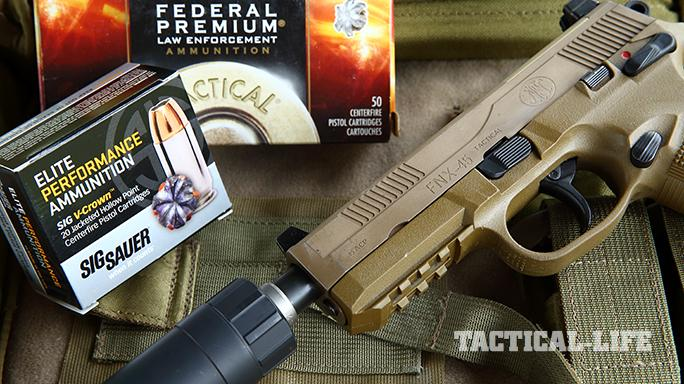 Sig P227 TACOPS and FNX-45 Tactical pistol ammo