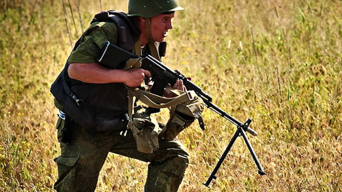 RPK-74 soldier carrying