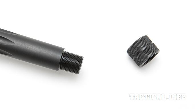 Savage 10 BA Stealth rifle muzzle