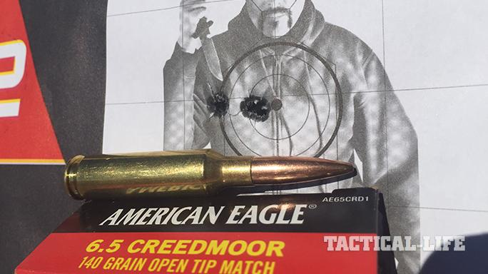 Savage 10 BA Stealth rifle target