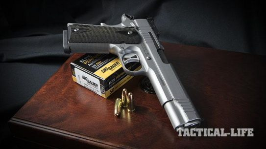 Sig 1911 Match Elite Stainless pistol right angle