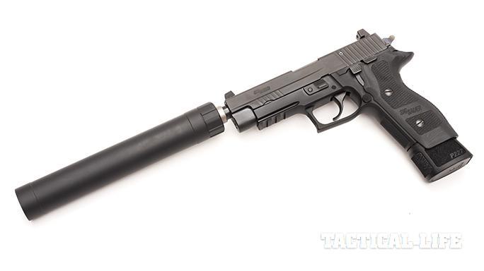 Sig P227 TACOPS pistol suppressor