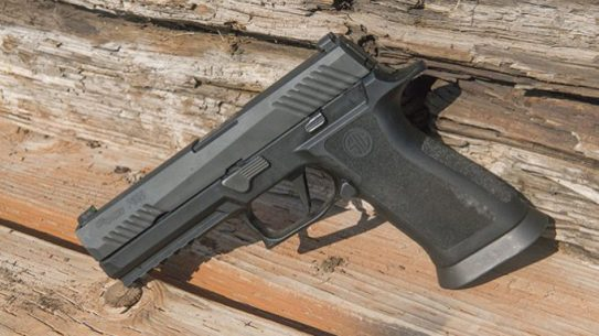 sig P320 voluntary upgrade left angle pistol